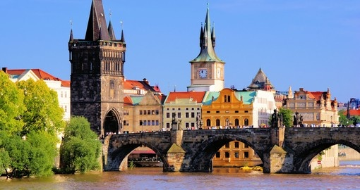 Visit the Charles Bridge and tower on your Prague Tour