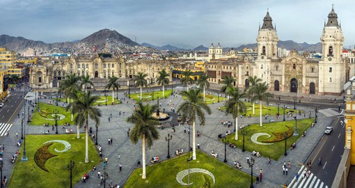 Begin your Peru Vacation with a visit to Plaza Mayor, the birthplace of the city of Lima