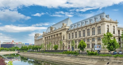 Palace of Justice in central Bucharest is a popular photo opportunity while on your Romania vacation.