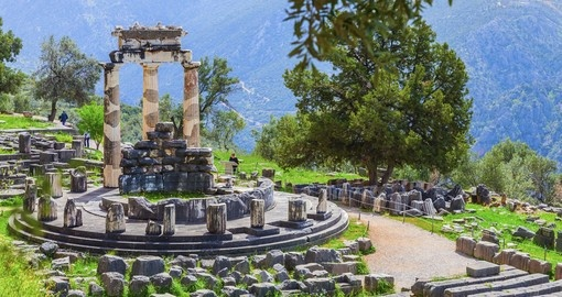 Visit the Panhellenic sanctuary of Delphi during your Greece vacation.