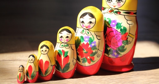 Russian Dolls...Popular Souvenirs