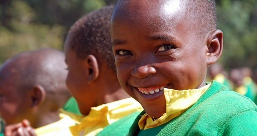 Enjoy the culture and the smiles of the kids on your Malawi vacation.