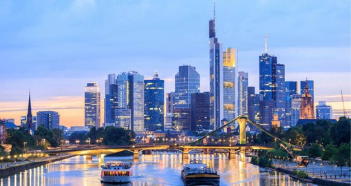 Frankfurt am Main, an alpha world city is a global hub for commerce and transportation