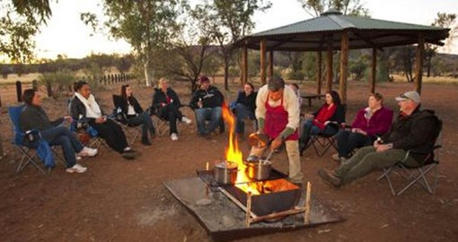 Experience the Mbantua Sunset & Starlight Bush Dinner near Alice Springs as part of your Australian Vacation