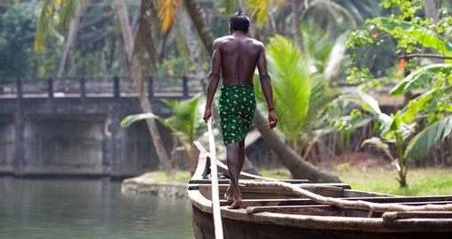 Local boat man during local Pongal Festival in India