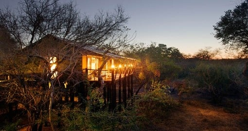 Experience luxury tent lodging at the Kapama Buffalo Camp during your South Africa vacation.