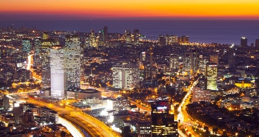 Beautiful Tel Aviv at Sunset - a photo opportunity on your Israel vacation.