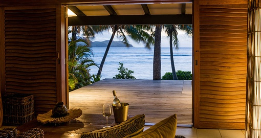 Relax in your own Beachfront Bure on your Fiji Vacation