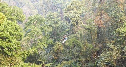 Enjoy a day of Ziplining on your Thailand Vacation