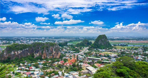 The Marble Mountains near Da Nang are each named for the natural element they represent