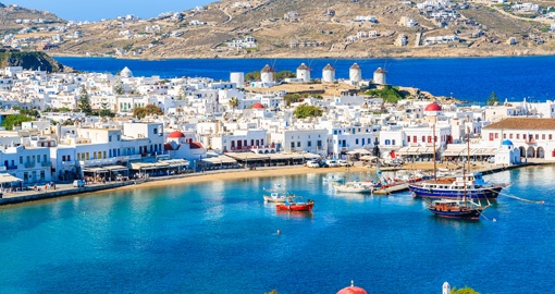 Mykonos Port, Cyclades islands, Greece