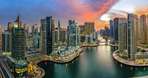 Dubai Marina is an affluent residential neighborhood known for al fresco dining and smart cafes