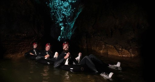 Experience black water rafting in the Waitomo Caves on your New Zealand vacation