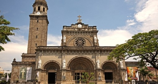 Manila Cathedral in the Intramuros area of Manila is a popular destination while on you Philippine vacation.