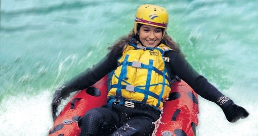Experience riding the rapids during your nest trip to New Zealand.