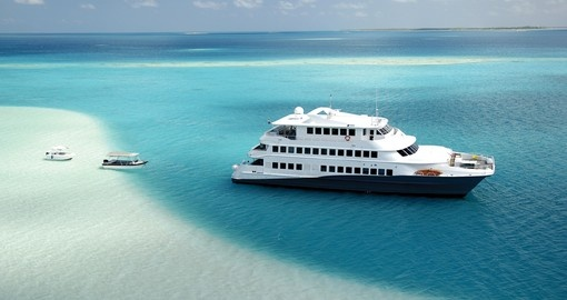 Your Tahiti vacation is aboard the luxurious 12-cabin Haumana vessel.