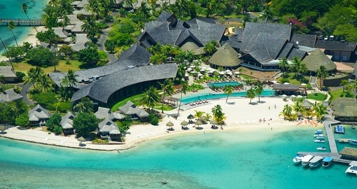 Aerial view of Intercontinental Moorea Resort & Spa