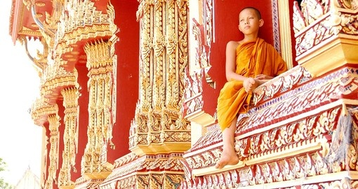 Young monk resting
