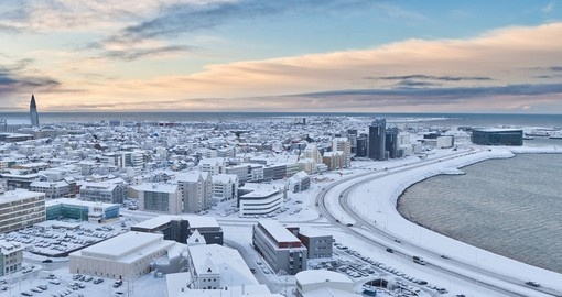 Experience this magical city Reykjavik when it is covered with snow on your next trip to Iceland.