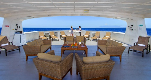 Hang out with a friend in your Twin Suite on your Galapagos Tour
