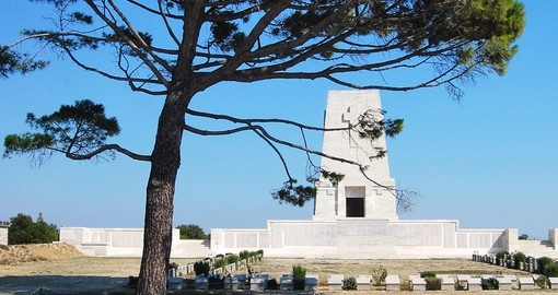 The Lone Pine Memorial at the Gallipoli Battlefields