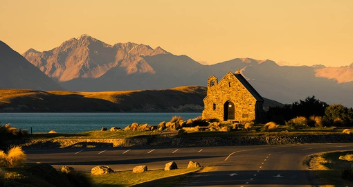 Visit the church of the good shepard on Lake Tekapo on your New Zealand vacation