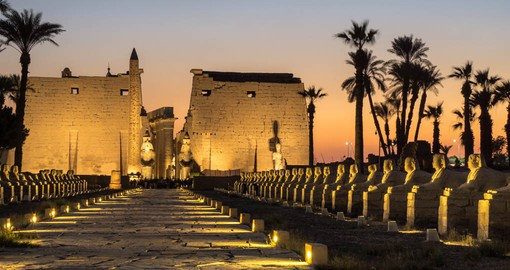 The Temple of Amun at Luxor, is the largest religious building in the world