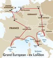 Grand European for 18 - 35s: London to London