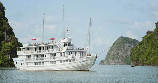 Enjoy a cruise of stunning Ha Long Bay on your trip to Vietnam