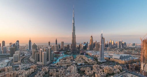 Dubai's Burj Khalifa is the world's tallest free-standing structure