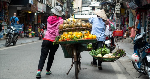 Fruit Vendor in Hanoi
