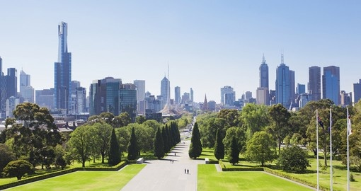 Begin your Australia vacation with a visit to the Royal Botanical Gardens in Melbourne