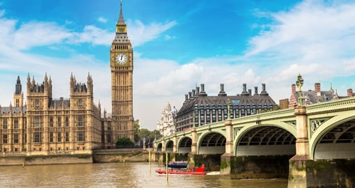 Visit all of London's iconic landmarks on your trip to Englanmd