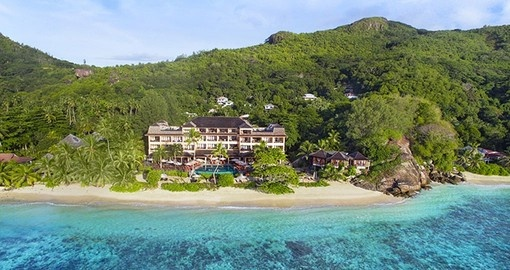 You will be staying at the Double Tree by Hilton Allamanda Resort & Spa during your Seychelles vacation.