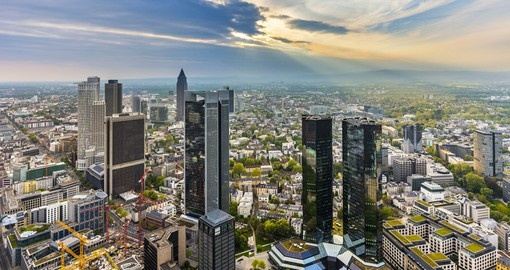 Panorama of Frankfurt, Germany