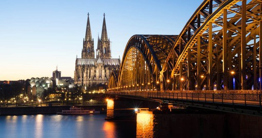 A highlight of your European River Cruise is a stop in Cologne with it's magnificent Cathedral and Bridge