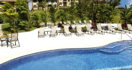 Soak up the sun poolside on your Costa Rica Vacation