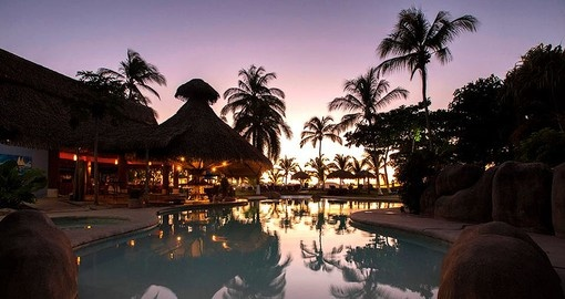 Your Costa Rica vacation package includes a stay at the Bahia del Sol Beach Front Hotel and Suites.