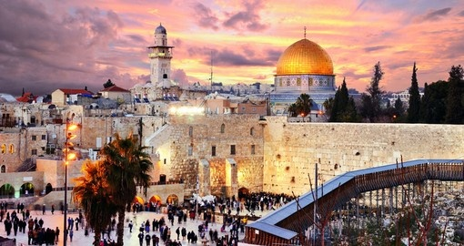 Old City at the Western Wall and Temple Mount