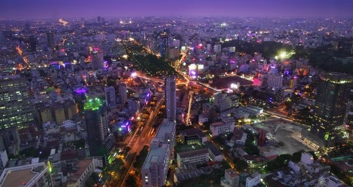 Night skyline of Ho Chi Minh City