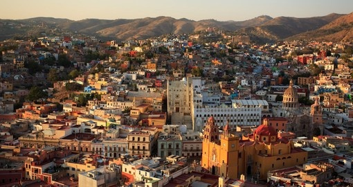 Colorful view of the city of Guanajuato