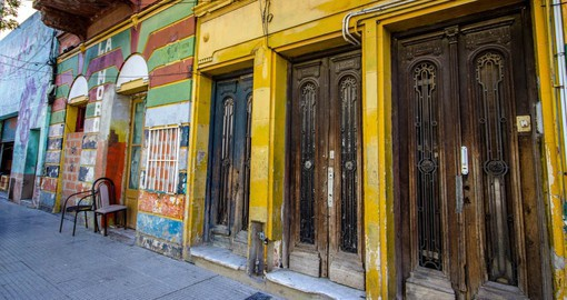 La Boca is the Buenos Aires' neighborhood famed for its colorful houses, tango and soccer team