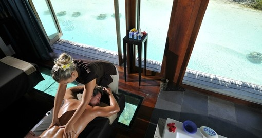 Pamper yourself with a visit to the spa on your trip to Tahiti