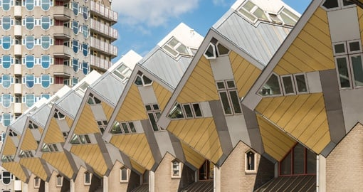 Yellow cube houses, Rotterdam, Netherlands