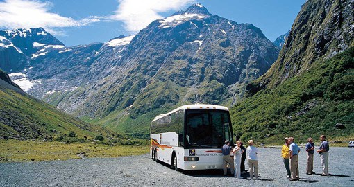 Explore motorcoach touring New Zealand