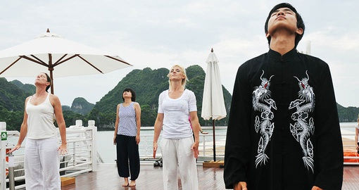 Find your Zen with Tai Chi lessons on your Halong Bay Cruise