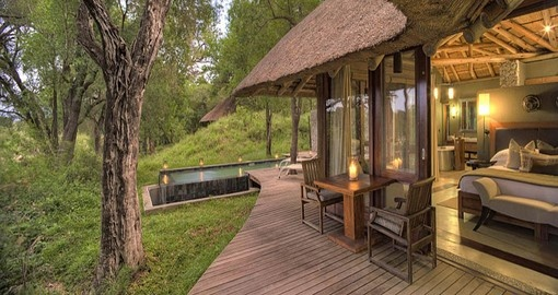 A 3 night stay at Dulini Leadwood Lodge is part of your South Africa vacation package.