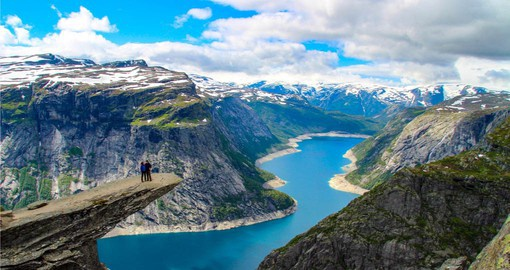 Walk on the Trolls Tongue on your trip to Norway