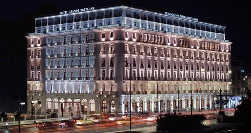 Your Greece Vacation is highlighted by a stay at the iconic Hotel Grande Bretagne in Athens