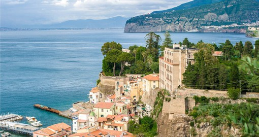 With commanding views of the Bay of Naples, Sorrento dates from 600 BC